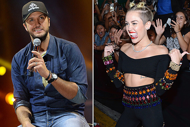 Luke Bryan and Miley Cyrus