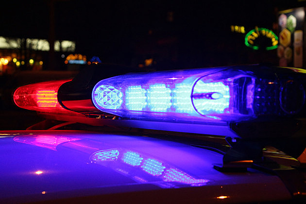 A close-up photo of Emergency lights at night